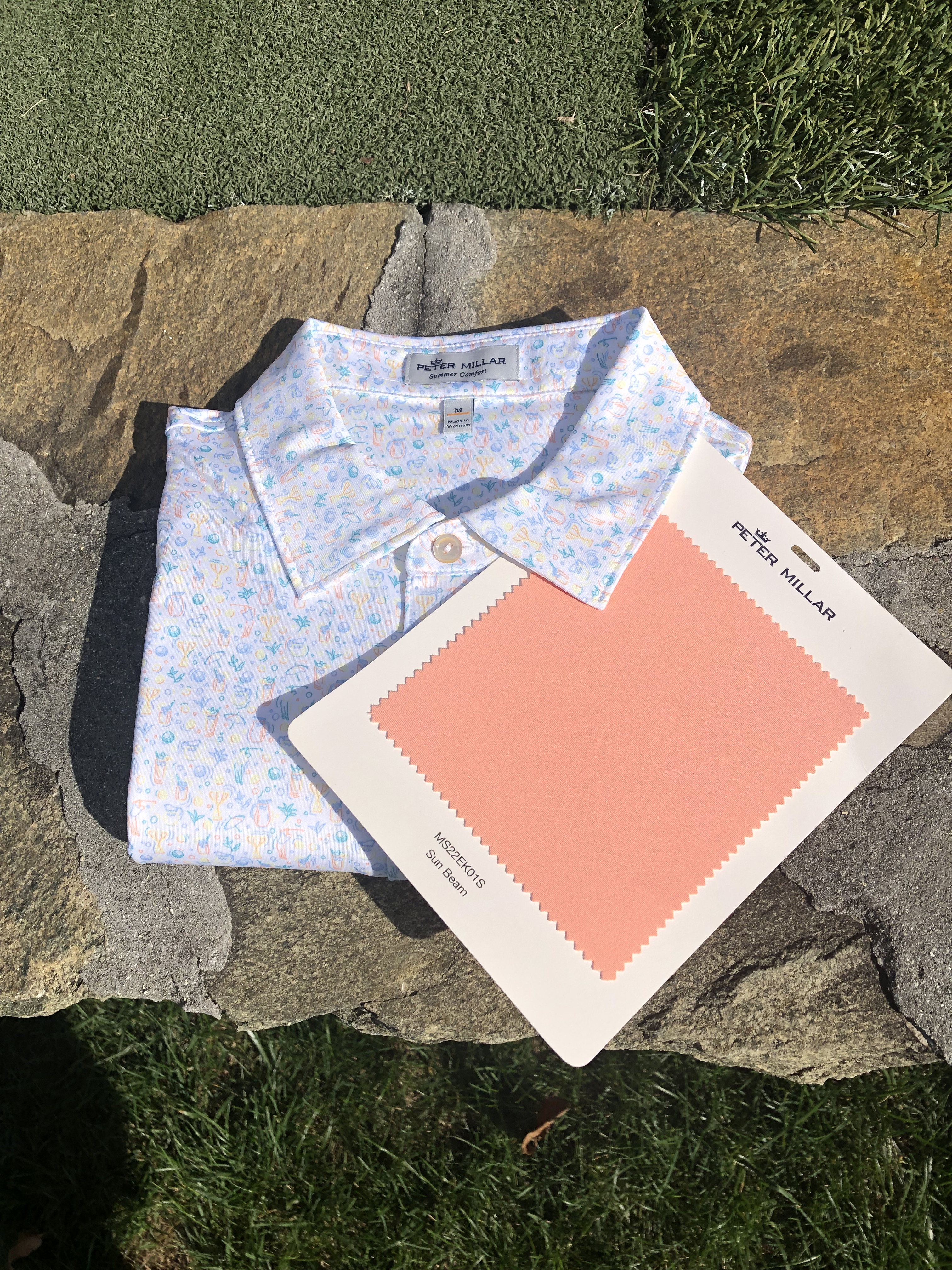 Arnold Palmer Half n Half Folded With Sunbeam Swatch