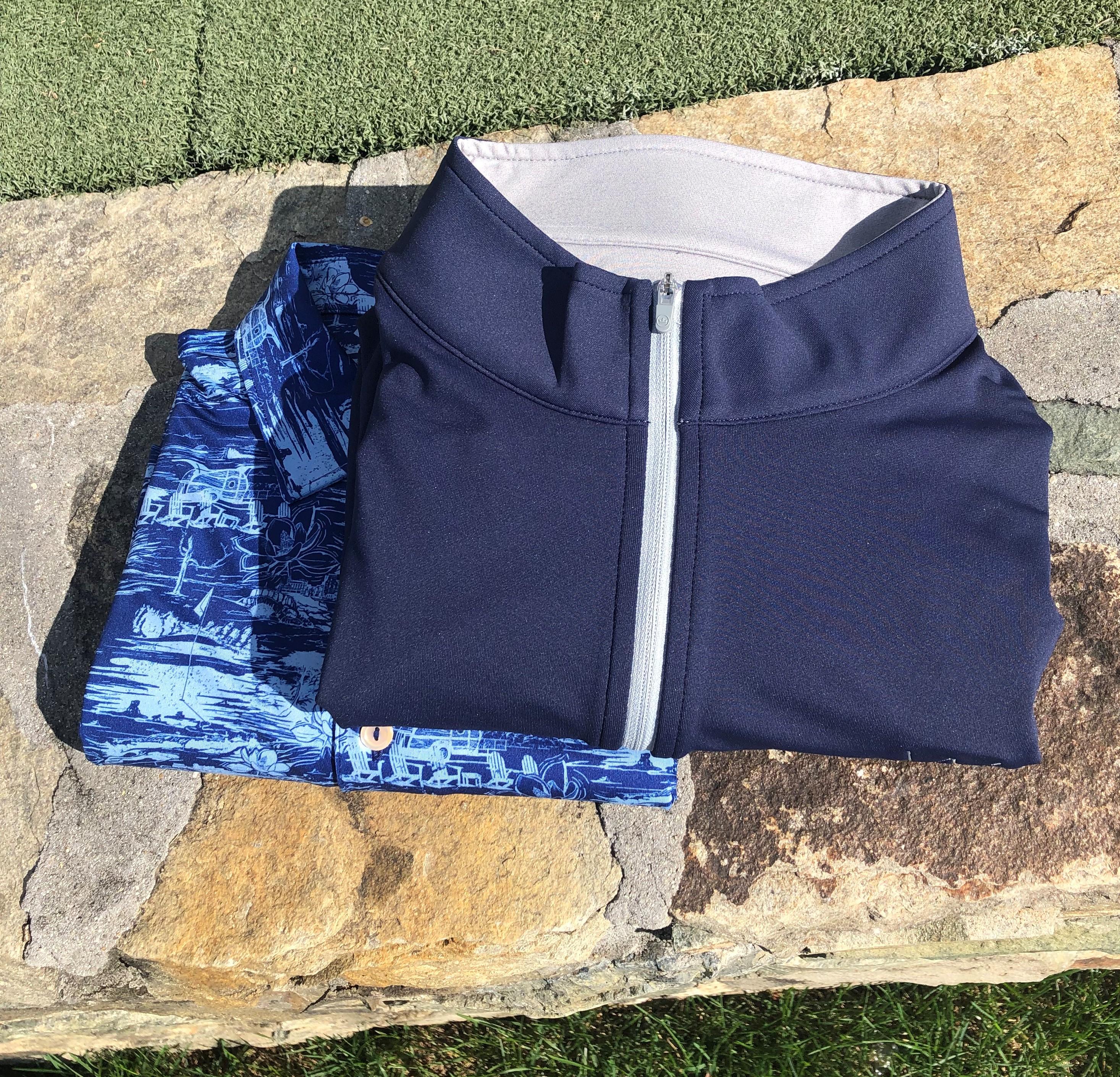 Millar Navy Vest Over Navy Print Shirt